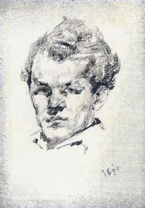 Autoportretas 1956. Pop., pieštukas, 14x11