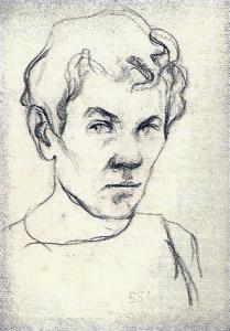 Autoportretas 1955. Pop., pieštukas, 12x10